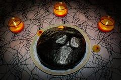 万圣夜蛋糕 免版税库存照片