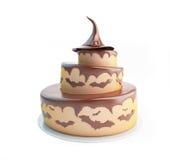 万圣夜蛋糕3d例证 免版税库存图片