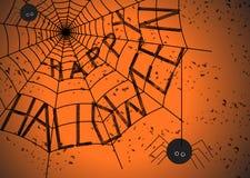 万圣夜蜘蛛网 库存图片
