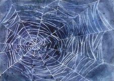 万圣夜蜘蛛网 库存照片