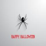 万圣夜蜘蛛背景 免版税库存图片