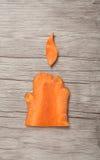 万圣夜蜡烛由红萝卜制成 免版税库存照片