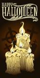 万圣夜蜡烛 免版税图库摄影