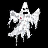 万圣夜难看的东西鬼魂剪影传染媒介 免版税库存照片