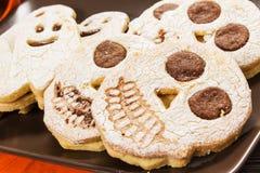 万圣夜饼干 免版税库存图片