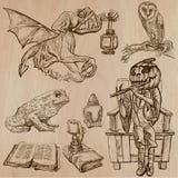 万圣夜,妖怪,魔术-导航汇集 库存图片