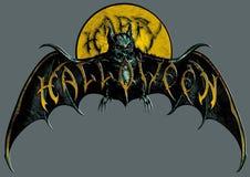万圣夜moon&bat象征 库存图片