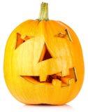 万圣夜Pumpkin.Scary杰克O'Lantern 免版税库存照片