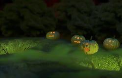 万圣节例证南瓜被设置的向量 图库摄影