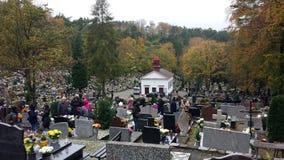 万圣节在公墓 库存照片