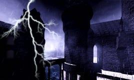 万圣节城堡 免版税库存照片