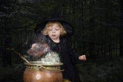 万圣节小巫婆 库存照片