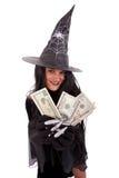 万圣节巫婆 免版税库存照片
