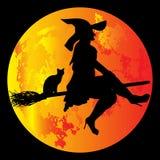 万圣节月亮 免版税库存照片