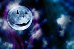 万圣节月亮 免版税库存图片