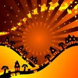 万圣节横向 免版税库存图片