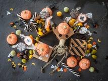 万圣节的甜点 免版税库存图片