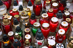 万圣节的蜡烛 库存图片