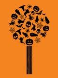 万圣节结构树 免版税库存照片