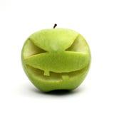 万圣节绿色苹果 库存照片