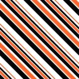 万圣节镶边无缝的样式-黑,橙色和白色对角条纹设计 向量例证