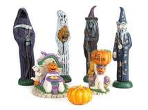 万圣节鬼的陶瓷家庭聚会 图库摄影