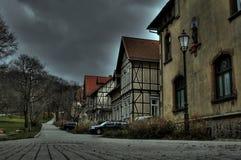 万圣节 鬼魂在一个被困扰的房子里在德国 库存图片