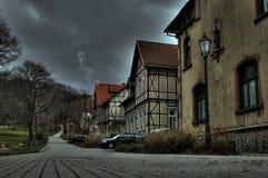万圣节 鬼魂在一个被困扰的房子里在德国 免版税图库摄影