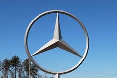 万斯, AL-CIRCA 2015年1月:奔驰车开始了它新的C类轿车的生产在阿拉巴马制造的复合体 免版税图库摄影