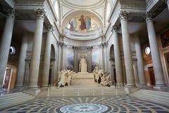万神殿内部在巴黎,法国 库存图片