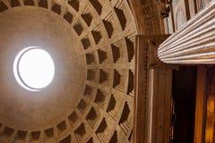 万神殿圆顶,罗马 库存照片