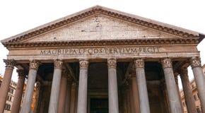 万神殿在罗马-古老的天主教堂在城市 图库摄影