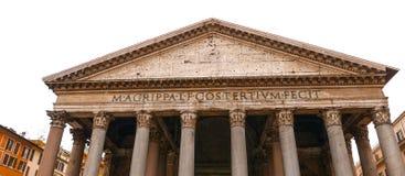 万神殿在罗马-古老的天主教堂在城市 免版税库存图片