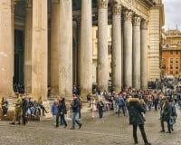 万神殿外视图,罗马,意大利 免版税库存图片