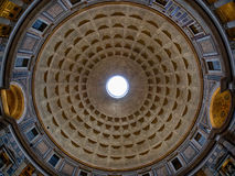 万神殿天花板在罗马 免版税图库摄影