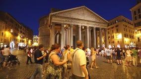 万神殿罗马意大利夜 股票视频