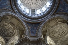 巴黎万神殿,内部 免版税库存照片