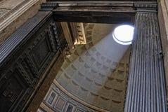 万神殿,广场della Rotonda,罗马圆顶  免版税库存图片