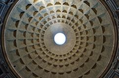 万神殿,广场della Rotonda,罗马圆顶  图库摄影