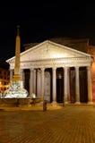 万神殿,罗马在晚上 免版税库存图片