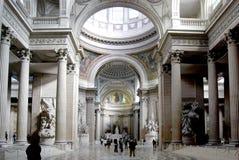 万神殿,巴黎内部  免版税图库摄影