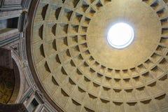 万神殿-令人惊讶的罗马,意大利圆顶  库存照片