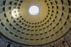 万神殿-令人惊讶的罗马,意大利圆顶  免版税库存图片