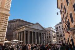 万神殿-令人惊讶的罗马,意大利 免版税图库摄影