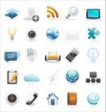 万维网和互联网图标集 免版税库存照片