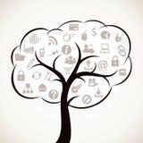 万维网图标结构树 图库摄影