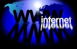 万维网宽世界万维网 库存图片