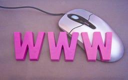 万维网宽世界 库存图片