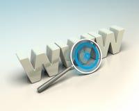 万维网搜索引擎,互联网seo概念 免版税库存照片