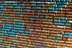万维网软件开发 破坏净安全的黑客 软件工程师在工作 图库摄影